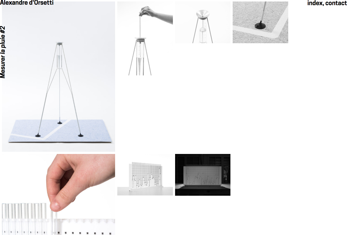 Alexandre d'Orsetti, website — Lisa Sturacci Graphiste