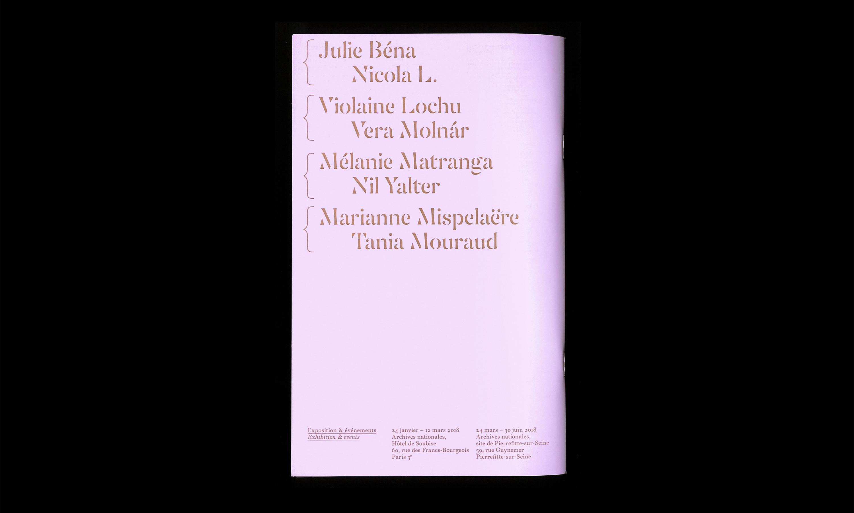 Prix AWARE pour les artistes femmes 2018 — Lisa Sturacci Graphiste