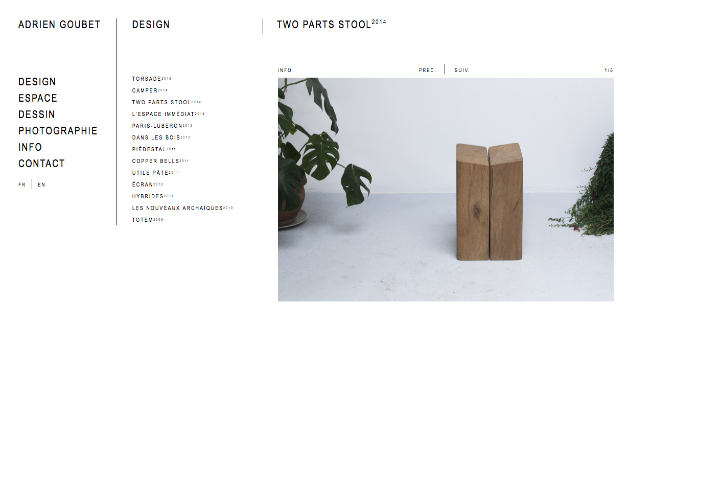 Adrien Goubet, website — Lisa Sturacci Graphiste