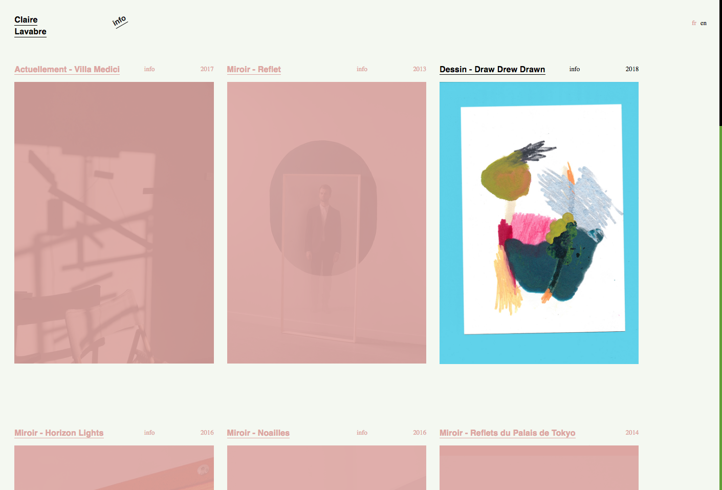 Claire Lavabre's website — Lisa Sturacci Graphiste
