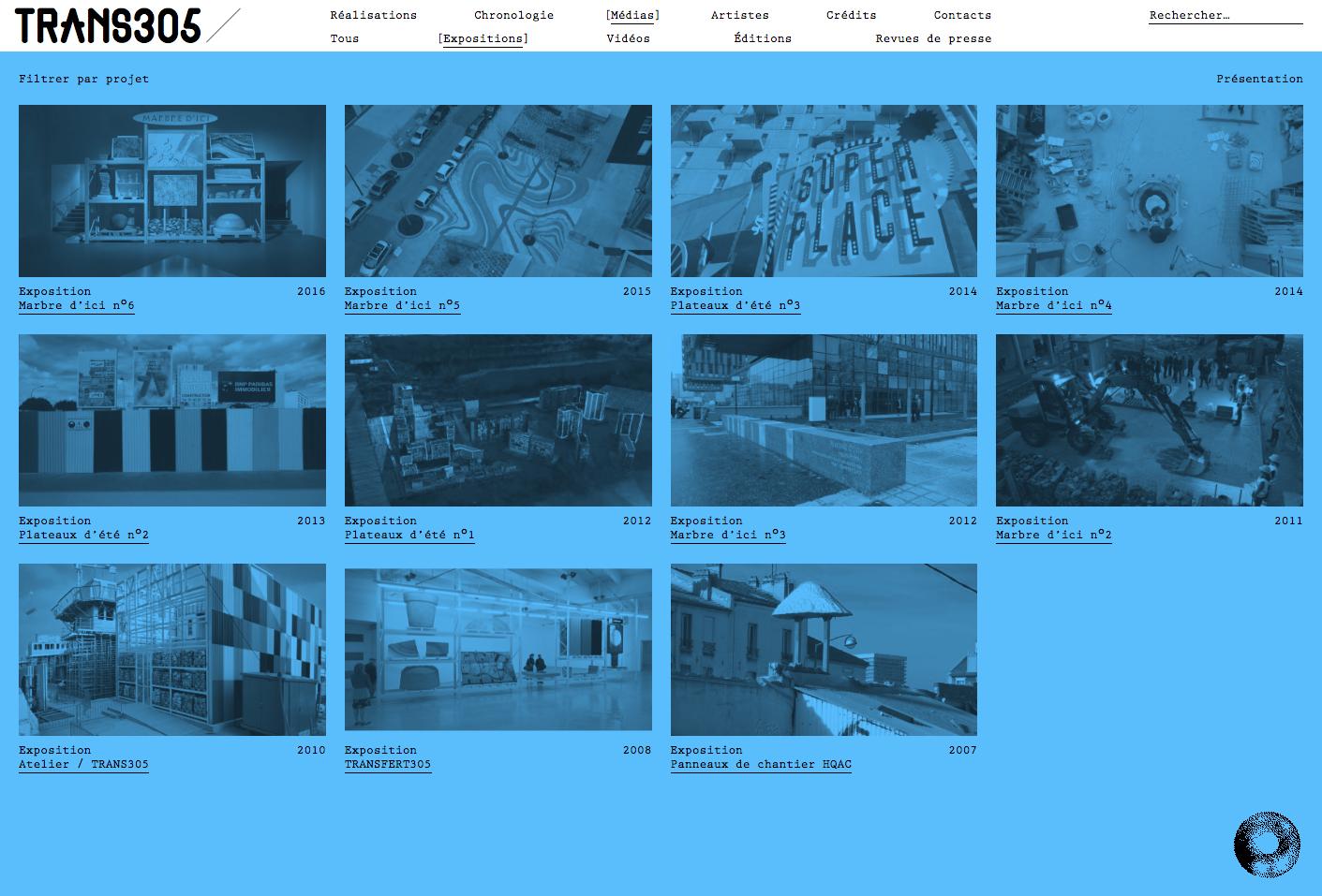 Trans305 website — Lisa Sturacci Graphiste