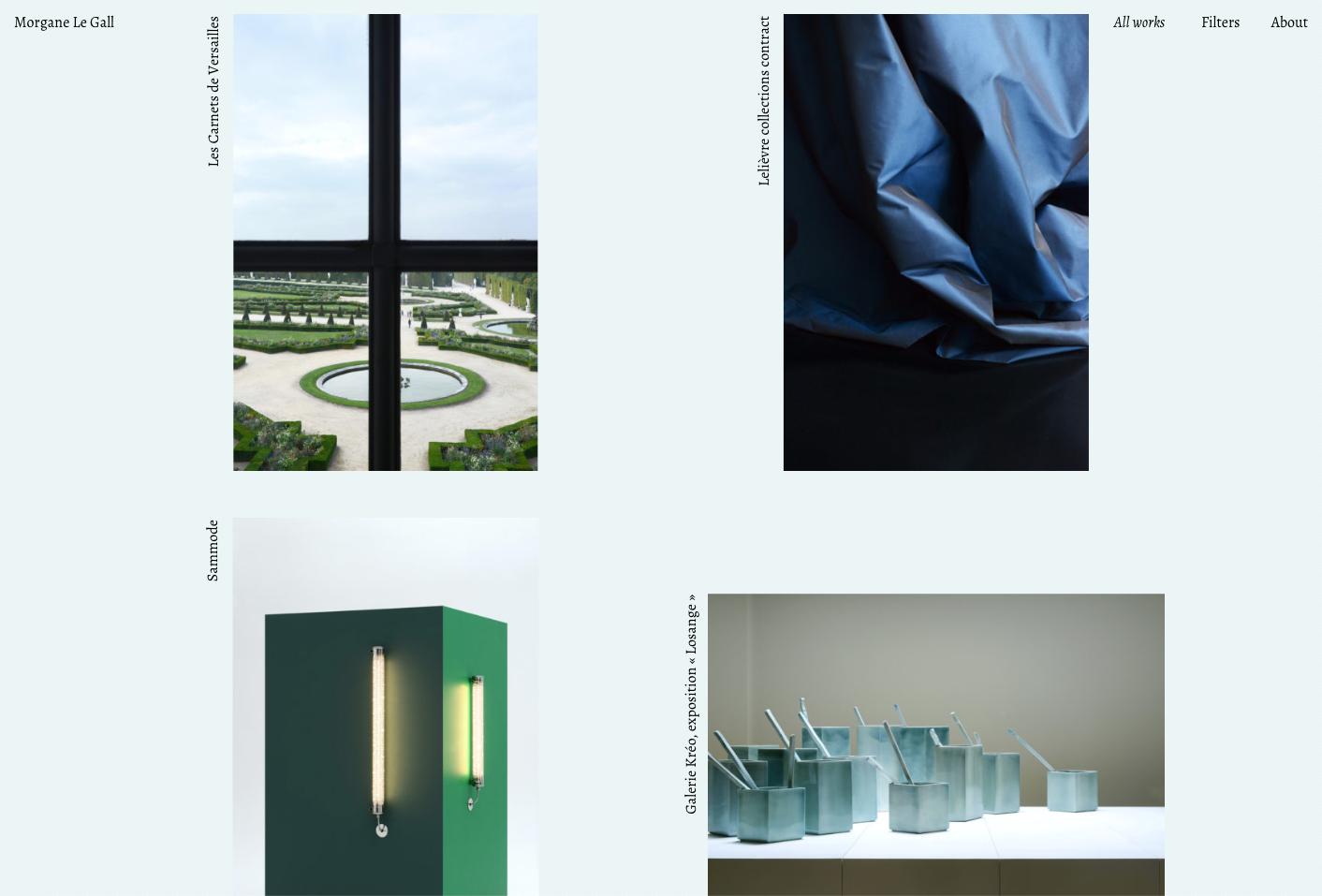 Morgane Le Gall, website — Lisa Sturacci Graphiste