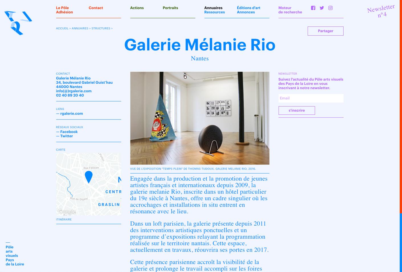 Pôle arts visuels Pays de la Loire — Lisa Sturacci Graphiste