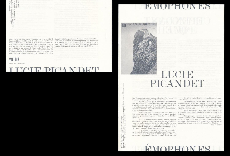 Lucie Picandet: Émophones — Lisa Sturacci Graphiste