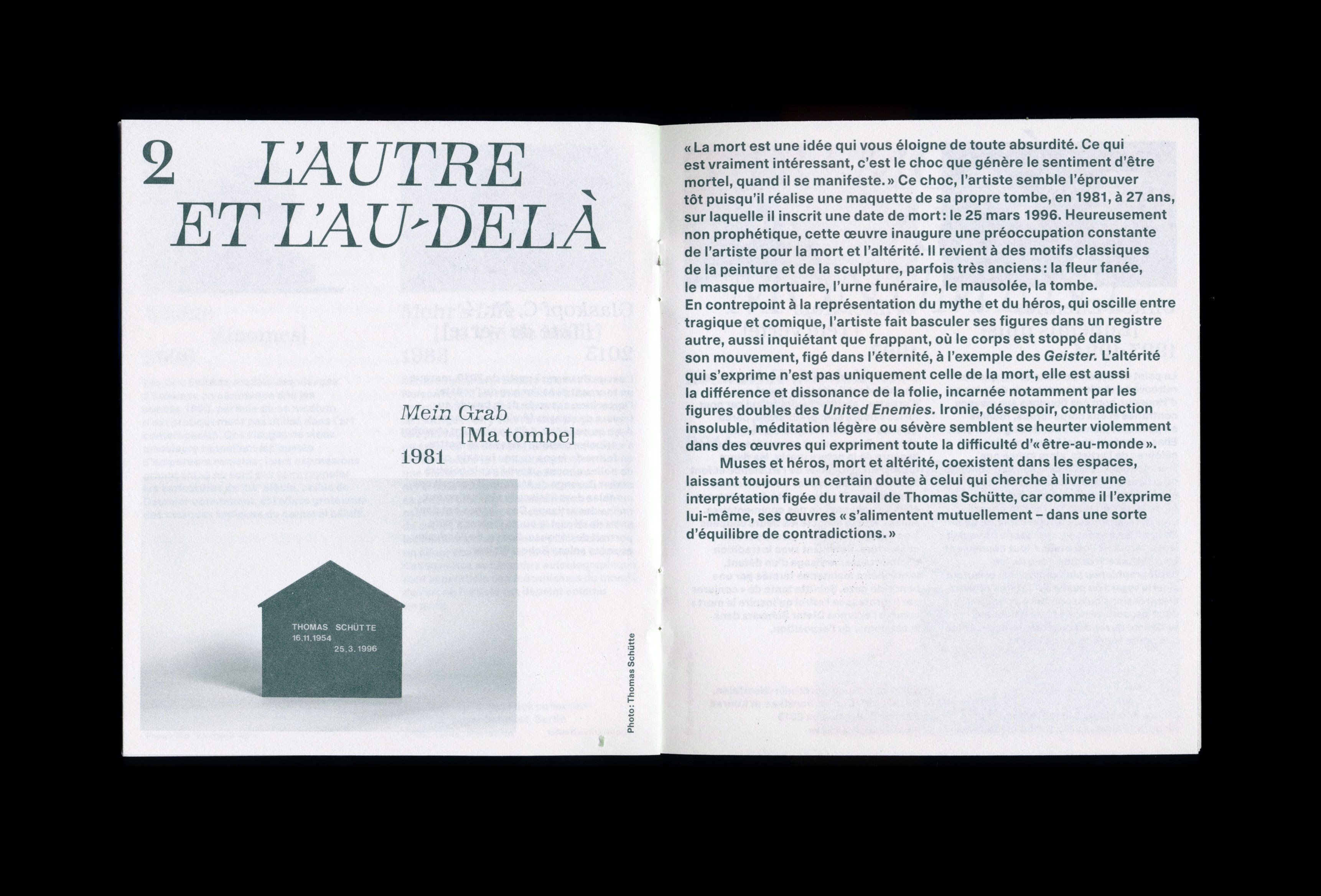 Thomas Schütte, Monnaie de Paris (booklet) — Lisa Sturacci Graphiste