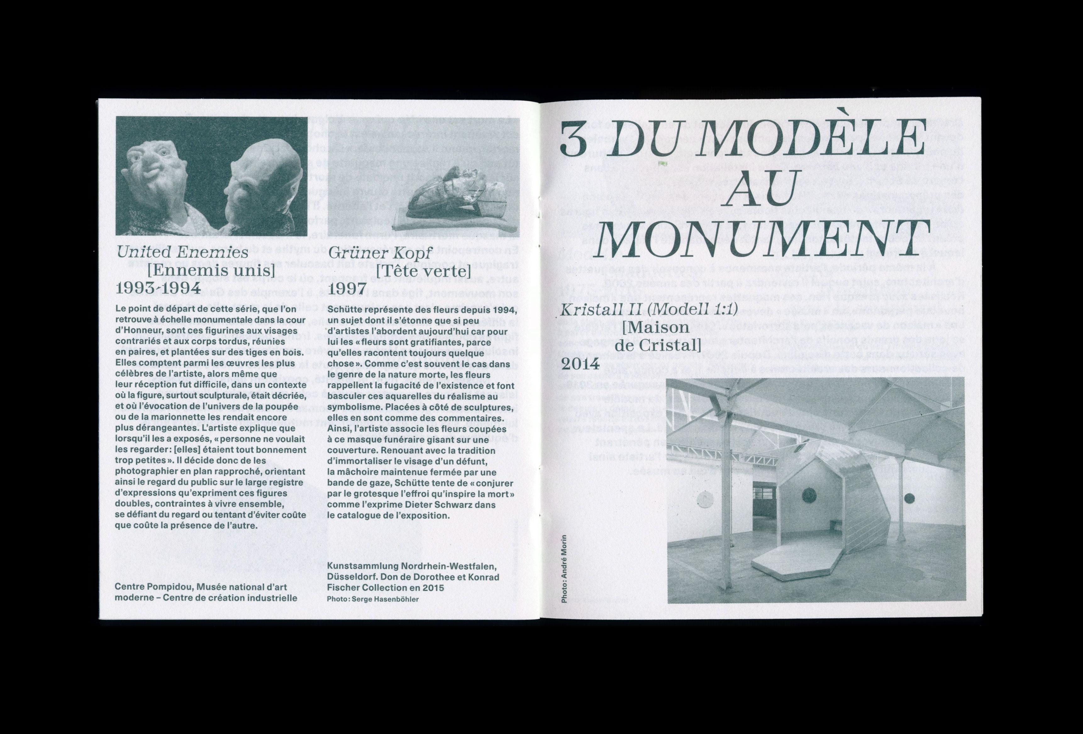 Thomas Schütte, Monnaie de Paris (booklet) — Lisa Sturacci Graphiste