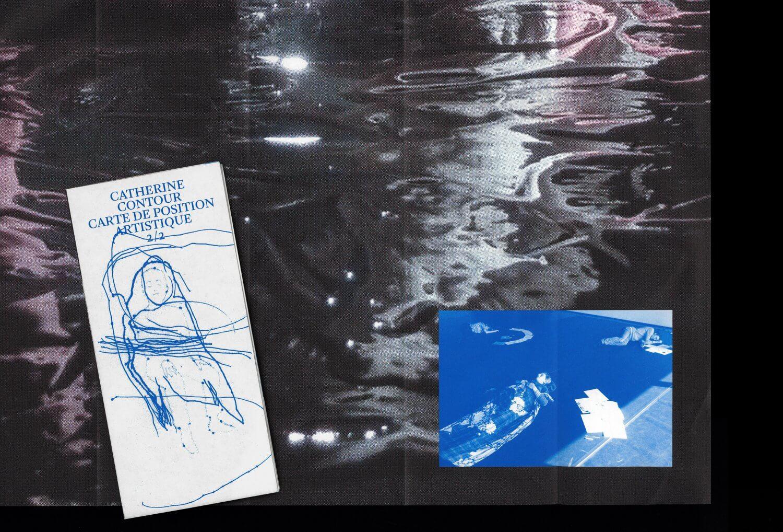 Catherine Contour: carte de position artistique 1 & 2 — Lisa Sturacci Graphiste